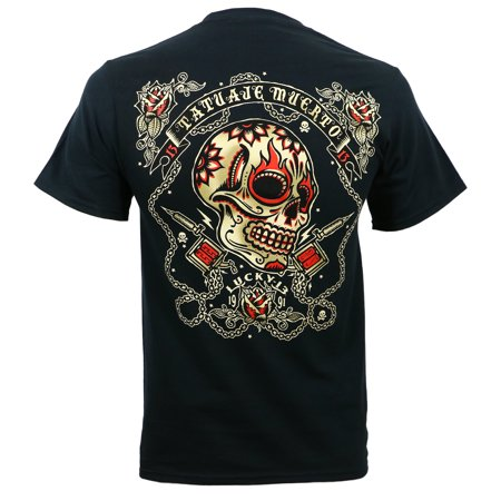 Lucky 13 Mens Dead Tattoo T Shirt