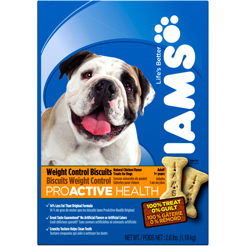Iams Proactive Health Weight Control Biscuits Adult Dog, 2.6Lb Bag (1.18 Kg.)