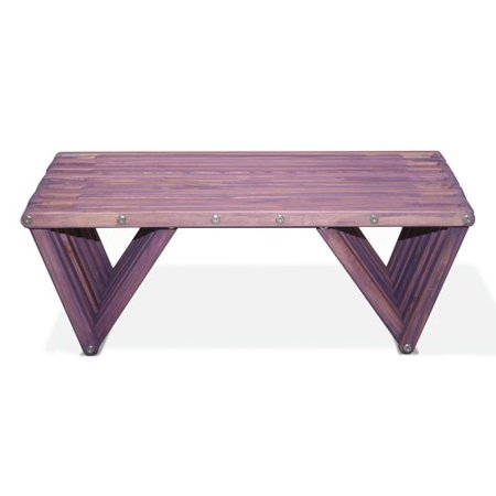 Eco friendly coffee table in purple berry finish Eco friendly coffee table