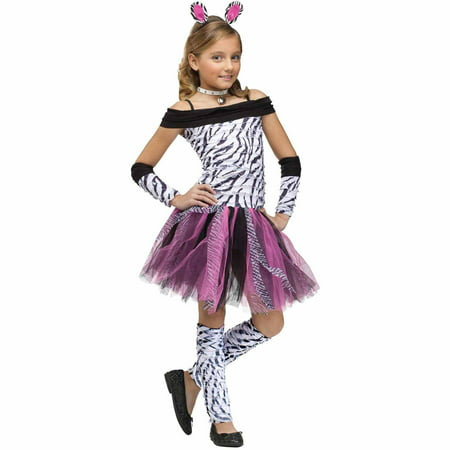 Zebra Child Halloween Costume - Zebra Halloween Face Makeup