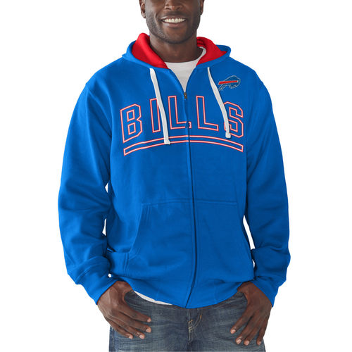 Men's G-III Sports by Carl Banks Royal Buffalo Bills Audible Full-Zip Fleece Hoodie