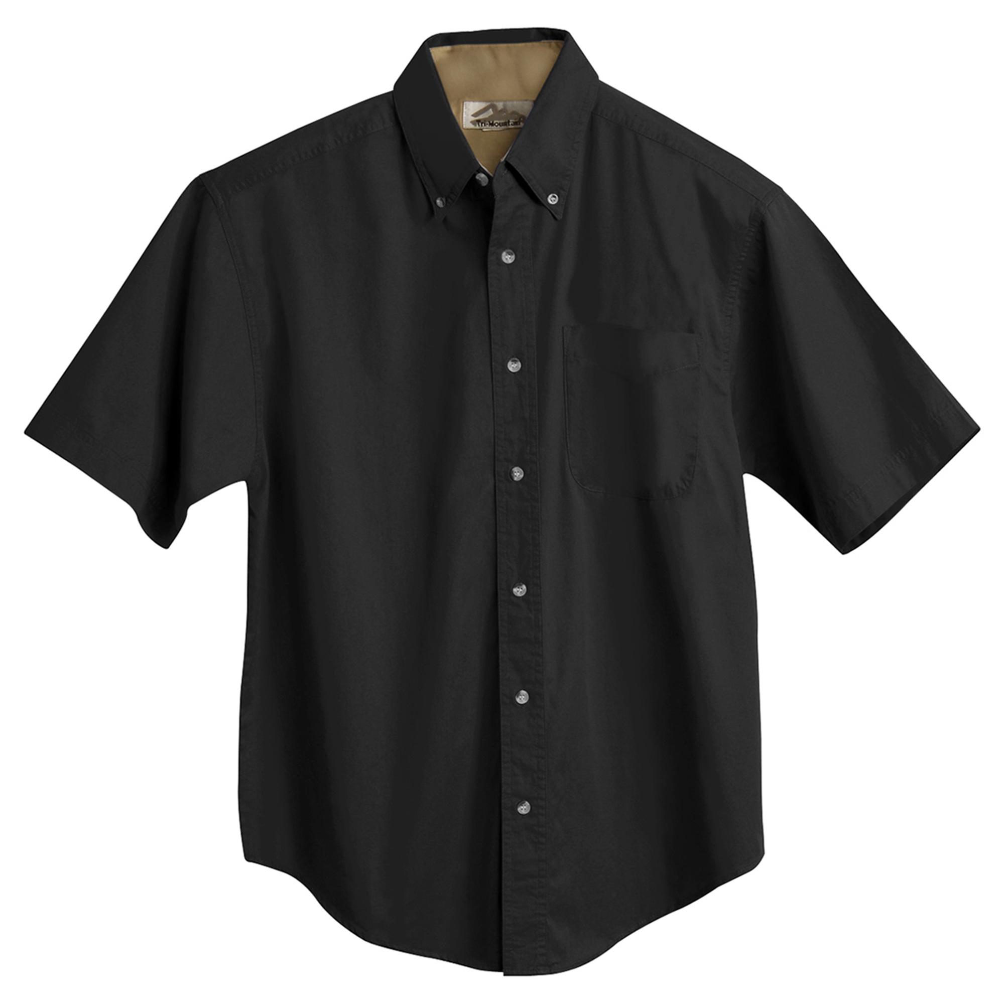 Tri-Mountain Men's Big And Tall Woven Shirt