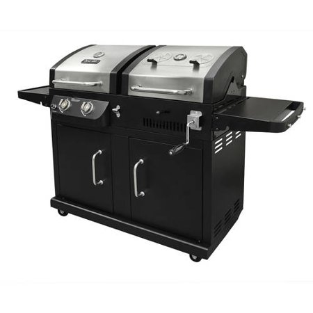 Dyna-Glo Dual Fuel 2-Burner Propane Gas LP and Charcoal Grill