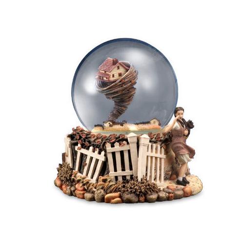 Wizard of Oz Rotating Tornado Water Globe Multi-Colored