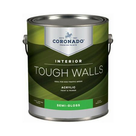 BENJAMIN MOORE & CO-CORONADO 22.1.1 Tough Walls Gallon White Semi-Gloss Interior Paint (Benjamin Moore Interior Paint)