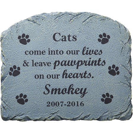 Division Memorial (Personalized Pawprints in Heaven Memorial Marker )