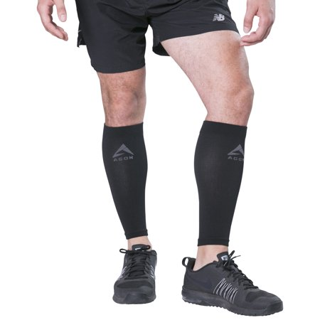 PAIR Calf Compression Sleeves By Agon® Calves Brace Support Shin Guard Leg Compression Socks for Splint, & Calf Pain Relief - Men, Women, and Runners for Running Cycling