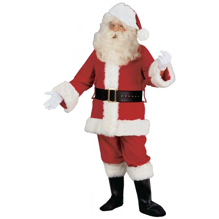 Deluxe Velvet Santa Claus Suit Adult Costume - Large