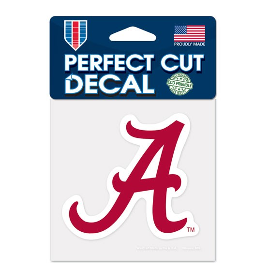 Alabama Crimson Tide Official NCAA 4 inch x 4 inch Die Cut Car Decal by Wincraft by WinCraft