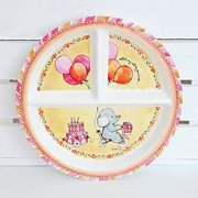 BABY CIE DANI Celebrer Votre Journee Round Textured Sectioned Plate