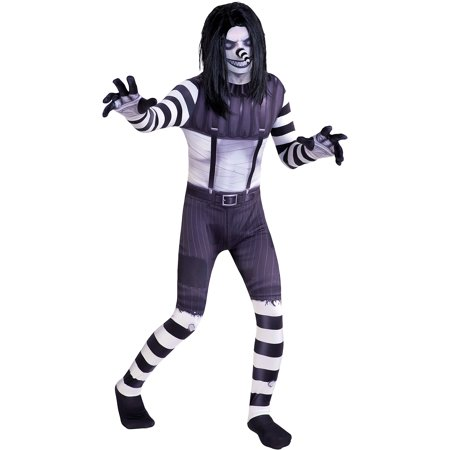 AFG Media Ltd Laughing Jack Halloween Costume for Boys, Includes Wig
