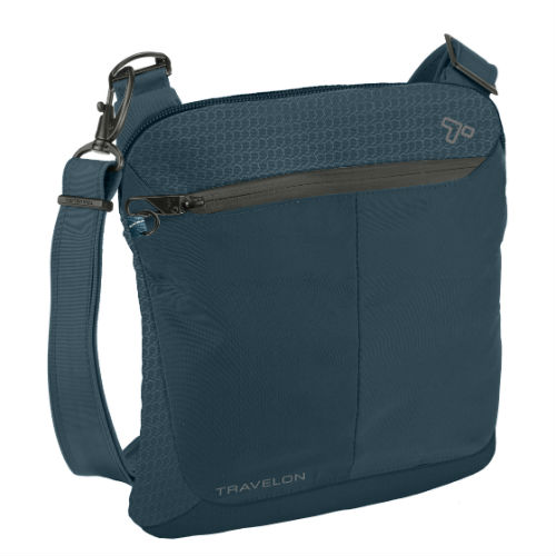 Travelon Anti-Theft Active Small Crossbody-Teal Anti-Theft Active Small Crossbody