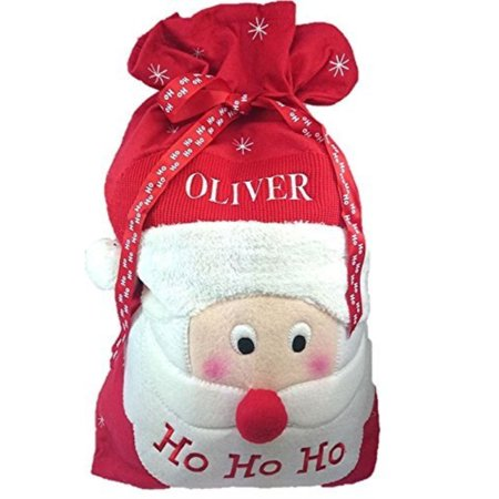 concept4u personalised embroidered large christmas present deluxe santa sack boys girls gift bag stocking toy tree