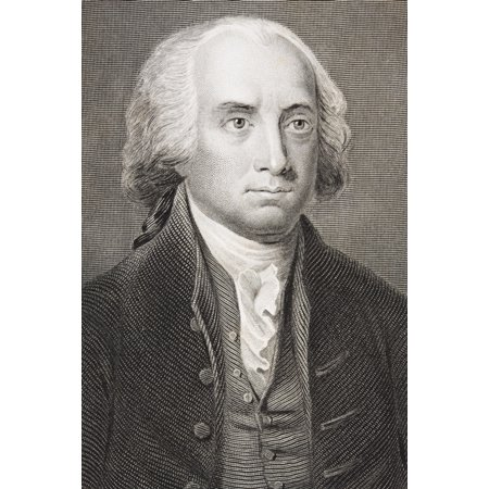 James Madison 1751 - 1836 Fourth President Of The United States 1809 - 1817 From The Book Gallery Of Historical Portraits Published C1880 Stretched Canvas - Ken Welsh  Design Pics (12 x