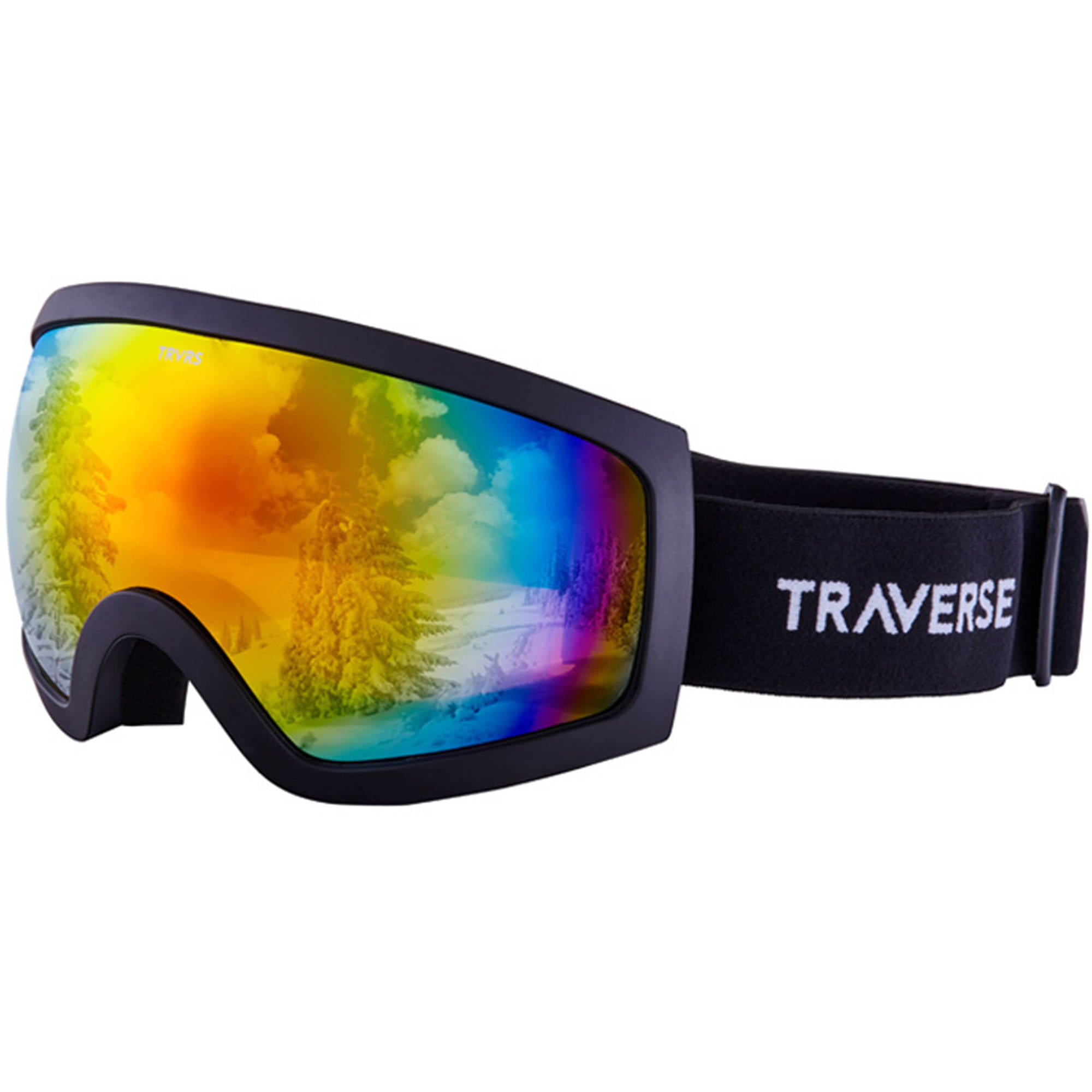 Traverse Varia Ski, Snowboard, and Snowmobile Goggles, Obsidian with Phoenix Lens by Traverse Sports