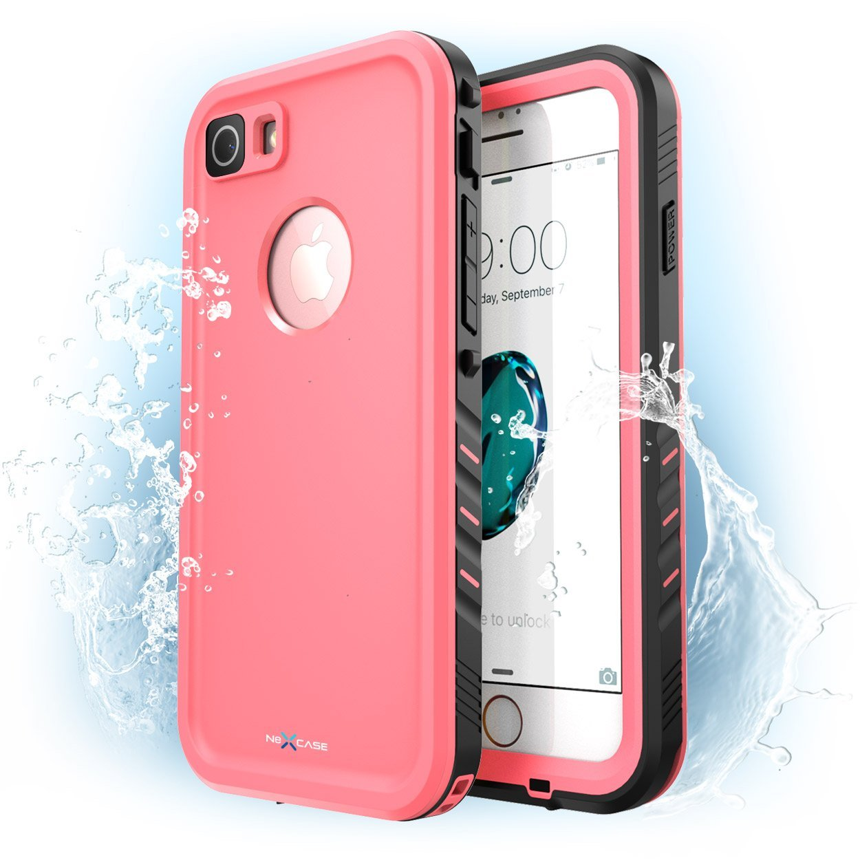 Iphone 7 Case, iPhone 8 Case, NexCase Waterproof Full-body Rugged Case with Built-in Screen Protector
