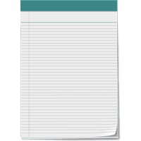 Canvas Print Vector Notepad 5x8 Notepad Notepad Paper Page Note Stretched Canvas 10 x 14