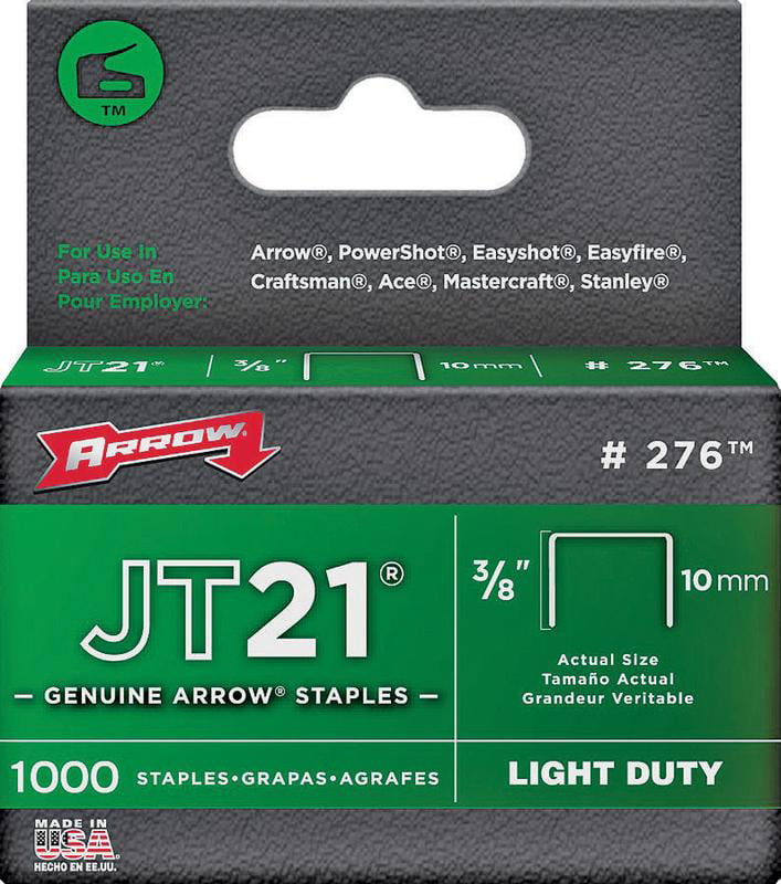 Arrow Fastener 276 3 8-Inch JT21 Staples, 1000 Count by Arrow Fastener