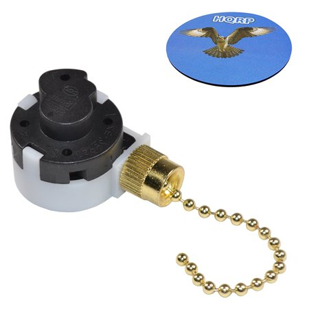 Hqrp Ceiling Fan Pull Chain 3 Speed 4 Wire Control Switch