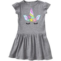 Unicorn Face Toddler Dress