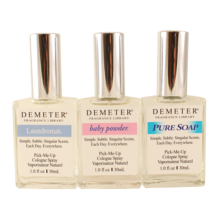 Demeter Clean And Fresh Trio Trio 3 X 1 Oz, Baby Powder + Laundromat + Pure Soap