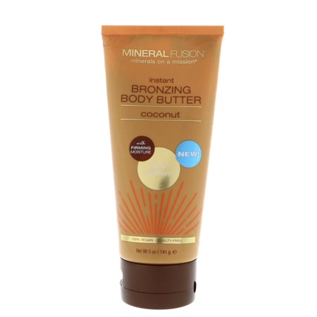 Mineral Fusion  Instant Bronzing Body Butter  Light Medium  Coconut  5 oz  141 g (Mineral Butter)