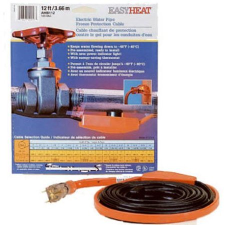 AHB-118 Cold Weather Valve and Pipe Heating Cable, 18-Feet, Manufactured in china By Easy