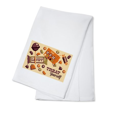 Halloween Candy - Retro Halloween - Lantern Press Artwork (100% Cotton Kitchen Towel) (Retro Halloween Candy)