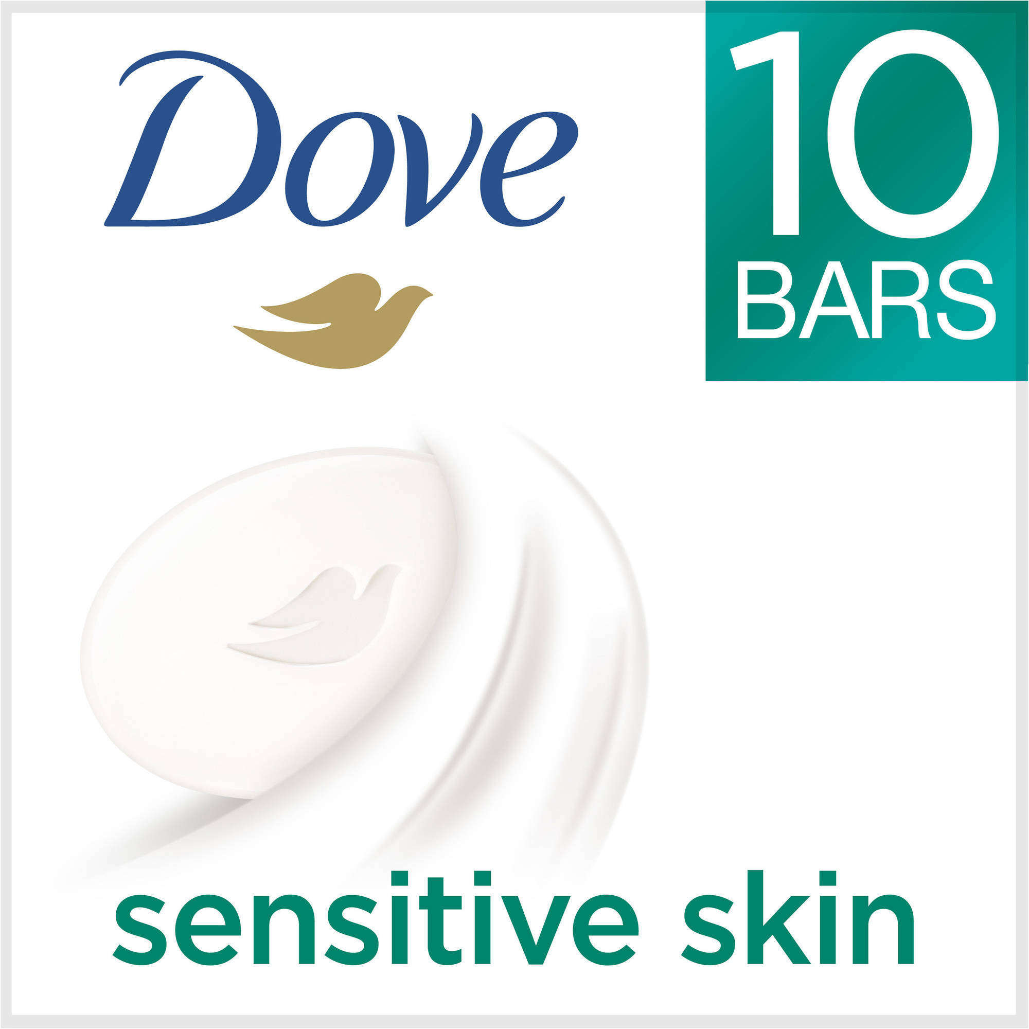 Dove Sensitive Skin Beauty Bar, 4 oz, 10 Bar
