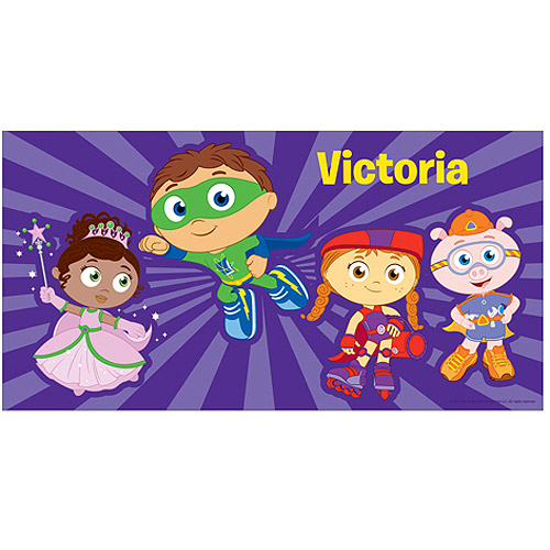 Personalized Super Why! To The Rescue! Beach Towel