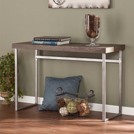 Southern Enterprises Nolan Console Table in Weathered Burnt Oak