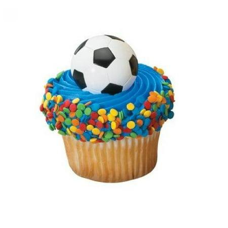 Soccer Ball Cupcake Rings (24-Pack)](Soccer Ball Tattoos Ideas)