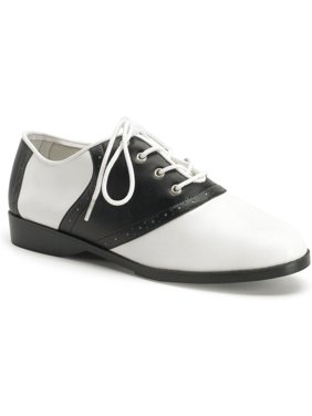 cute saddle shoe womens flat shoes sexy flats black white