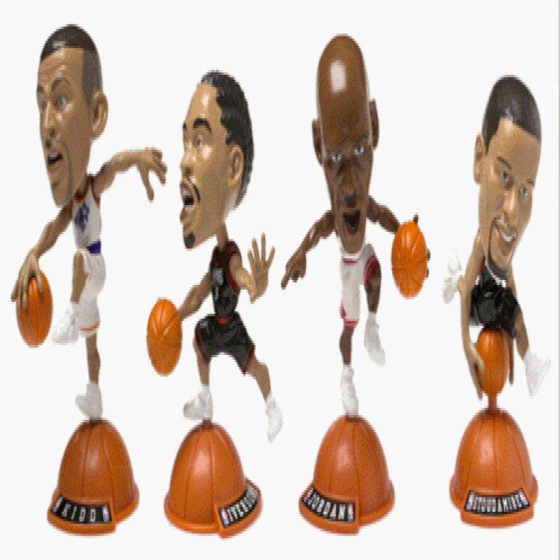 1999 Mattel NBA Jams Two-On-Two Action 4-Figure Pack Michael Jordan & Allen Iverson vs... by