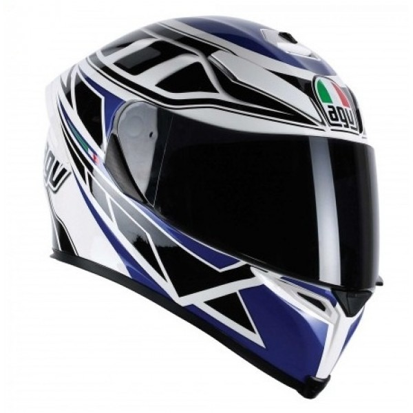 AGV K-5 Diapason Motorcycle Street Helmet Blue/Black/White