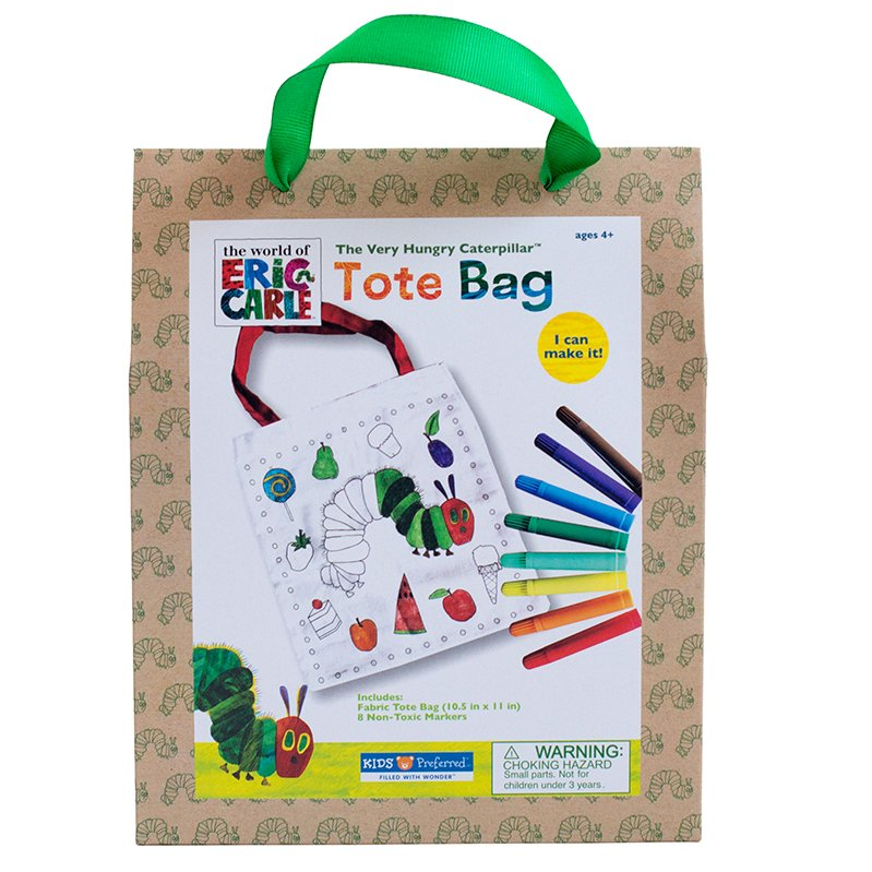 Kids Preferred - 55704 | Eric Carle: Color Your Own Tote Bag - image 1 of 1