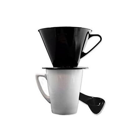 Gourmet Single Cup Pour Over Coffee Brewer Dripper with Coffee Scoop