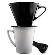 Gourmet Single Cup Pour Over Coffee Brewer Dripper with Coffee Scoop Included