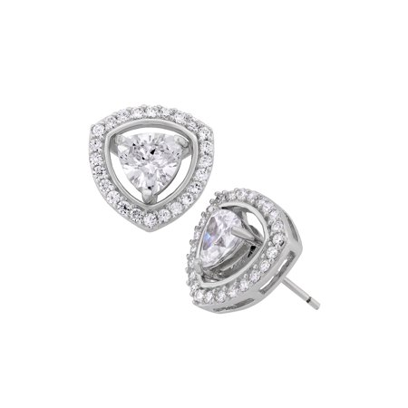 trillion wedding earrings lynne cassandra cz drop bridal flower products