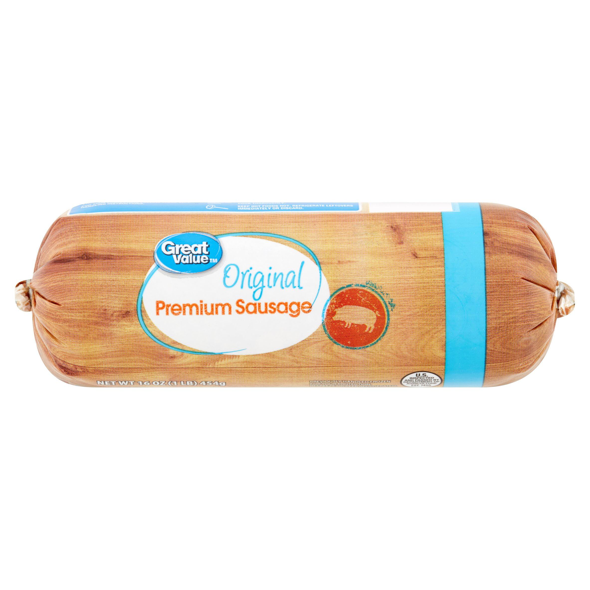 Great Value Original Premium Sausage, 16 Oz.