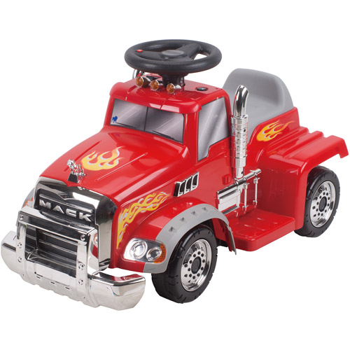 New Star Ride On Mack Truck, 6 Volt, Red