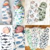 2PCS Infant Swaddle Muslin Blanket Newborn Baby Wrap Swaddling Sleeping Bag
