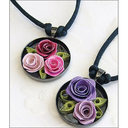 Quilled Creations Quilling Kit  Romantic Roses Necklace