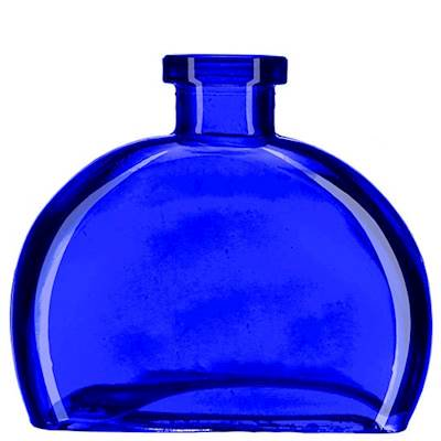 COBALT BLUE 6 Ounce Figi Glass Vase  - Courtneys Candles