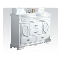 Acme Furniture 01665 Flora White Dresser with 2 Doors