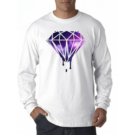 089 - Unisex Long-Sleeve T-Shirt Galaxy Bleeding Dripping Diamond