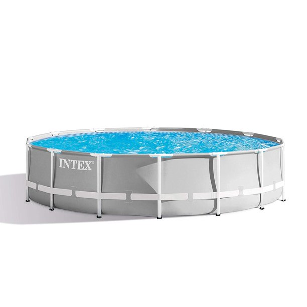 Intex 14 Foot X 42 Inch Prism Frame Above Ground Swimming Pool Set With Filter Walmart Com Walmart Com