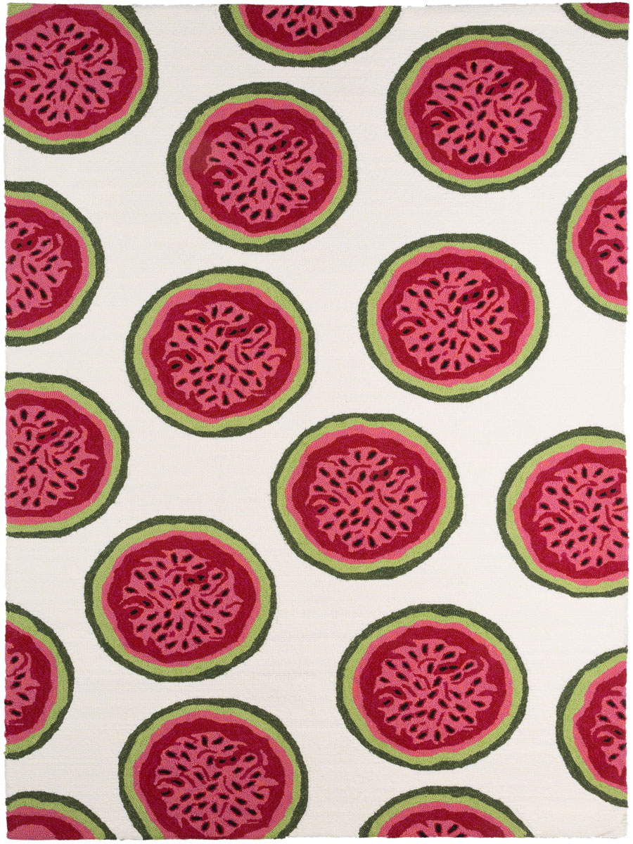 coral pink watermelon accent rug