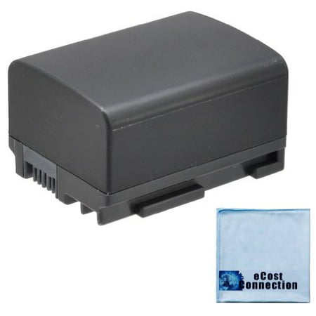 Canon BP-808 Replacement 1550mAh Li-Ion Rechargeable Camcorder Battery for Canon VIXIA HG20, HG21, HG30, M30, M31, M32, M300, M40, M41, M400 Camcorder + eCostConnection Microfiber (Gs280 Camcorder Battery)