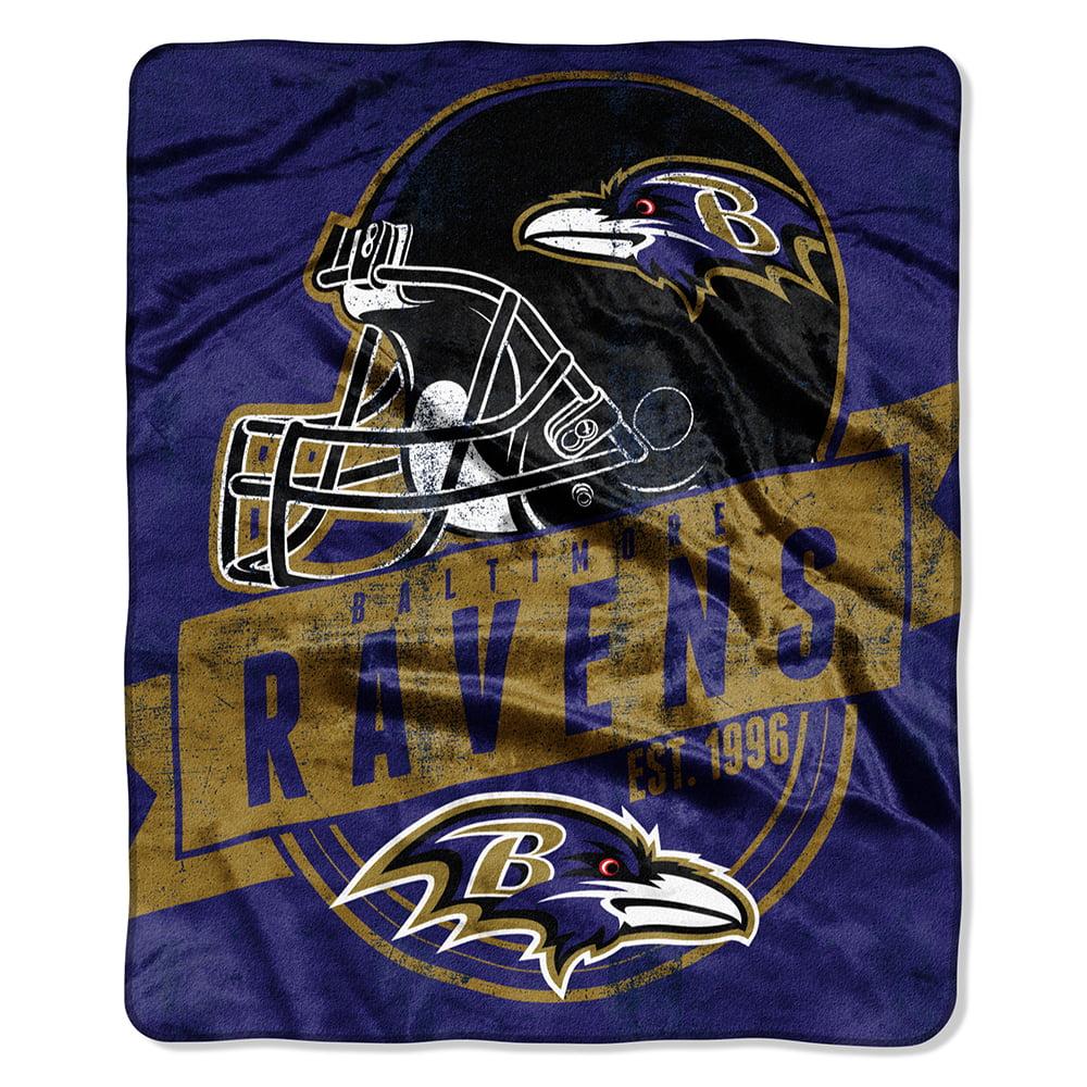 "Baltimore Ravens 50""x60"" Royal Plush Raschel Throw Blanket - by Northwest"